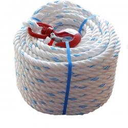 Corde à poulie polypropylène avec crochet width=