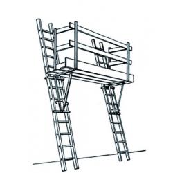 Taquet d'échelle galvanisé width=