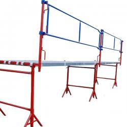 Tréteau Ø 49 peint- de 1.45 à 2.65 m - pieds fixes width=
