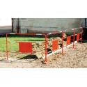 Barrière rouge de chantier rétro-réfléchissante diam 28