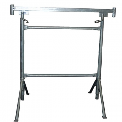 Tréteau Diam 49 mm - Pieds pivotants galvanisé width=
