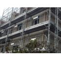 Echafaudage fixe de façade 78 m2