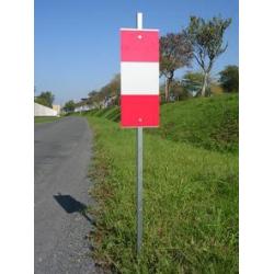 Piquet de signalisation K5b - 1 face width=