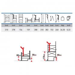 Echafaudage alu roulant modulable - MODALU width=