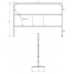 Barrière de chantier rouge - Ø 28 mm width=