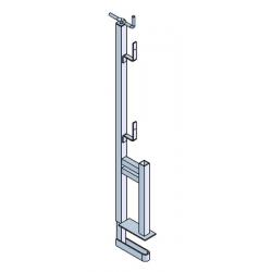 Garde-corps pince 1 position planche galvanisé width=