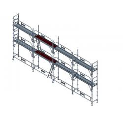 Échafaudage fixe de façade 78 m2 width=