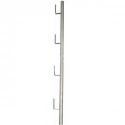 Poteau supérieur Planche galvanisé width=