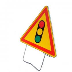 Panneau de signalisation AK17 - Feu Tricolore width=