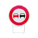 Panneau de signalisation BK3 - Dépassement interdit