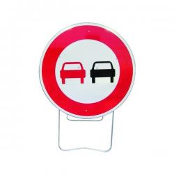 Panneau de signalisation BK3 - Dépassement interdit width=