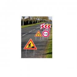 Panneau de signalisation AK3 - Chaussée rétrécie width=