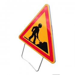 Panneau de signalisation AK5 - Attention travaux width=
