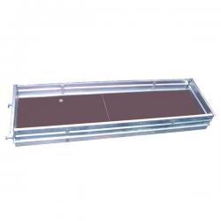 Plancher d'accès à trappe alu-bois Lg 2.50 m - Echafaudage Ø 42 width=
