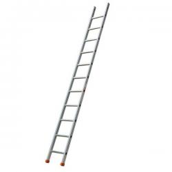 Echelle simple alu - Hauteur 4.45 m width=