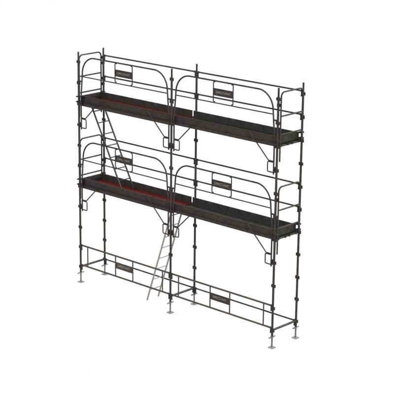 Lot échafaudage Ø 45 mm - 42 m2 sécurité complète