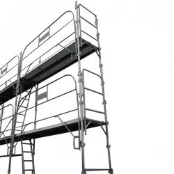 Échafaudage fixe de façade 78 m2