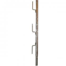 garde-corps de tréteau galvanisé