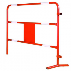Barrière rouge de chantier - Diamètre 28 mm