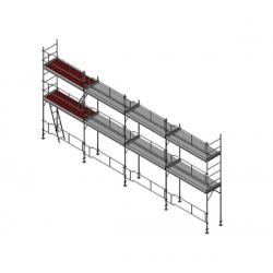Échafaudage de façade 84,5 m2
