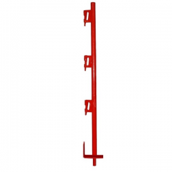Garde-corps de protection 3 bloqueurs peint - Diam 25 mm width=