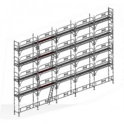 echafaudage fixe de facade 160 m2