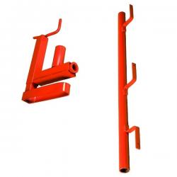 Garde-corps pince escalier planche peint width=
