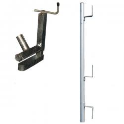Garde-corps pince escalier à planche galvanisé width=