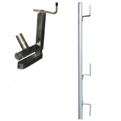 Garde-corps pince escalier planche galvanisé width=