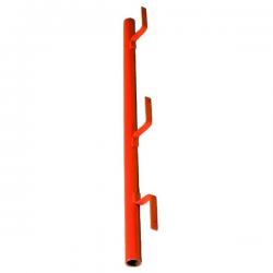 Potelet seul à planche peint pour garde corps escalier - Diam 40 mm width=