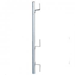 Potelet seul à planche galvanisé pour garde corps escalier - Diam 40 mm width=