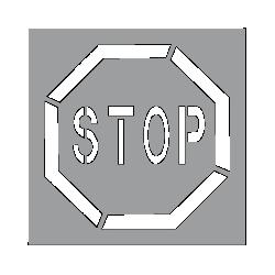 Pochoir Stop 60 cm - Wilmart
