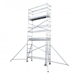 Échafaudage roulant aluminium 5,90 mètres width=