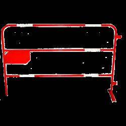 Barrière rouge de chantier - Diamètre 25 mm
