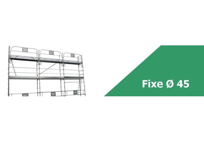Échafaudage fixe de façade diamètre 45 - Conforme aux normes