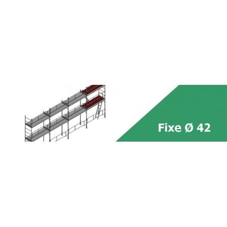 Échafaudage fixe de façade diamètre 42 - Qualité et robustesse