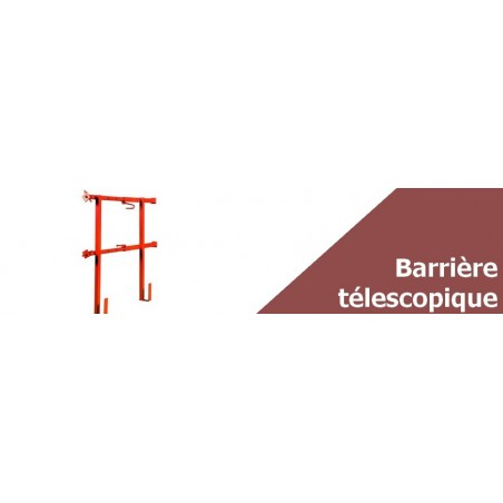 Barrière de sécurité télescopique - Ouverture extensible