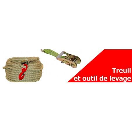 Treuil et outils de levage - Corde polypropylène, Poulie, élingue...