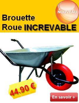 brouette roue increvable